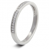 9ct White 0.25ct Brilliant HSI Diamond Wedding / Half Eternity Ring - 2.5mm Band