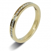 18ct Yellow Gold 0.25ct Brilliant HSI Diamond Eternity Ring -2.5mm Band - Fast Delivery