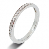 9ct White Gold 0.30ct Brilliant HSI Diamond Eternity - 2mm Band - Fast Delivery