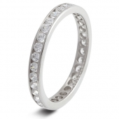 9ct White Gold Wedding Rings / Diamond Full Eternity Rings