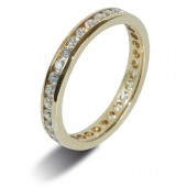 18ct Yellow Gold Wedding Rings / Diamond Full Eternity Rings