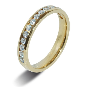 Yellow Gold 9ct Half Eternity Diamond Rings