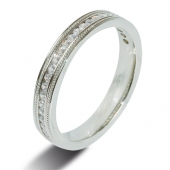 9ct White 0.25ct Brilliant HSI Diamond Half Eternity - 2.8mm Band