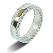 9ct White Gold 1.0ct Brilliant HSI Diamond Full Eternity / Wedding Ring - 5.8mm Band