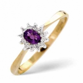 Diamond Rings with Amethyst