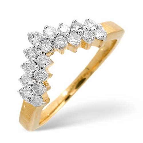 Diamond Ring 0.45 carat - 9ct Yellow Gold Eternity