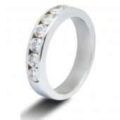 9ct White 1.0ct Brilliant HSI Diamond Half Eternity - 4.0mm Band