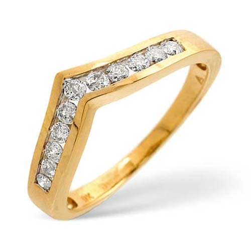 Diamond Ring 0.24 carat - 9ct Yellow Gold Eternity Ring