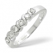 9ct White Gold 0.24 Carat Diamond Eternity Ring