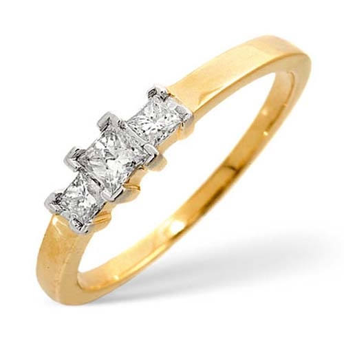 Diamond Ring 0.25 carat - 9ct Yellow Gold Engagement Ring