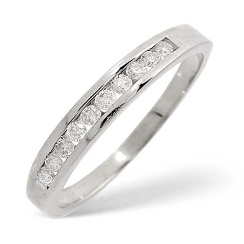 Diamond Ring 0.24 carat - 9ct White Gold Eternity Ring