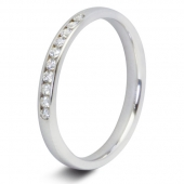 9ct White 0.15ct Brilliant HSI Diamond Ten Stone Eternity Ring - 2.3mm Band