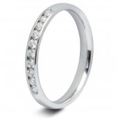9ct White 0.25ct Brilliant HSI Diamond Ten Stone Eternity Ring - 2.6mm Band