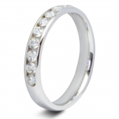9ct White 0.50ct Brilliant HSI Diamond Ten Stone Eternity Ring - 3.3mm Band