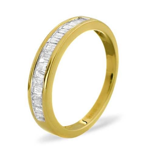 Diamond Ring 0.33 carat - 9ct Yellow Gold Eternity