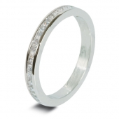9ct White 0.30ct Princess HSI Diamond Eternity Ring - 2.0mm Band - Fast Delivery