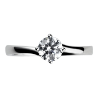 Engagement Ring Solitaire (TBC137) - GIA Certificate -  All Metals
