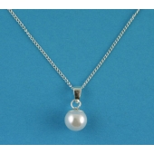 Free Gift Sterling Silver Simulated Pearl Pendant