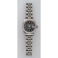 Pre-owned - Rolex Datejust Black Dial 69174 Ladies