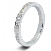 9ct White 1.0ct Brilliant HSI Diamond Eternity Ring - 3mm Band - Grain Set