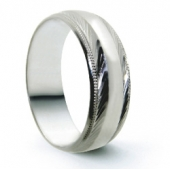 Palladium Wedding Rings  950 - D Profile Patterned