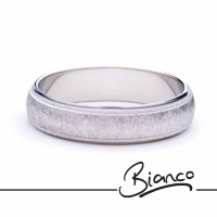 Patterned Designer White Gold Wedding Ring - Attrarre