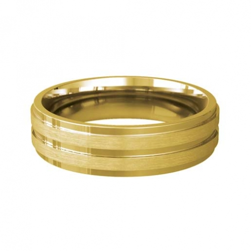 Patterned Designer Yellow Gold Wedding Ring - Miele