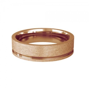 Patterned Designer Rose Gold Wedding Ring - Eterno