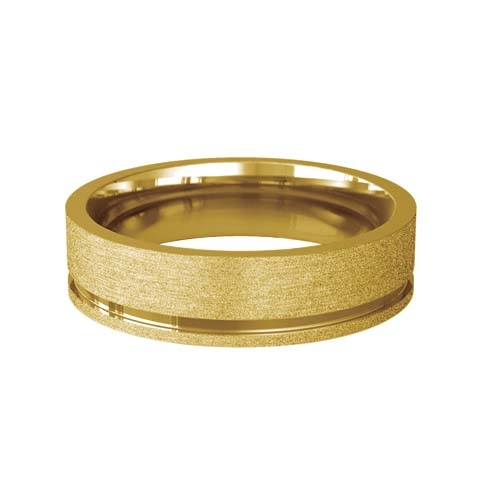 Patterned Designer Yellow Gold Wedding Ring - Eterno