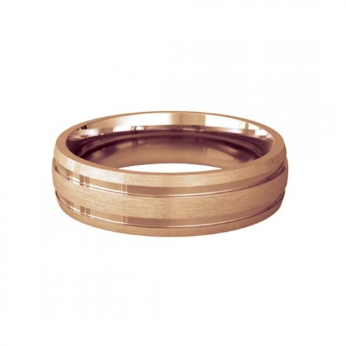 Patterned Designer Rose Gold Wedding Ring - Dedique