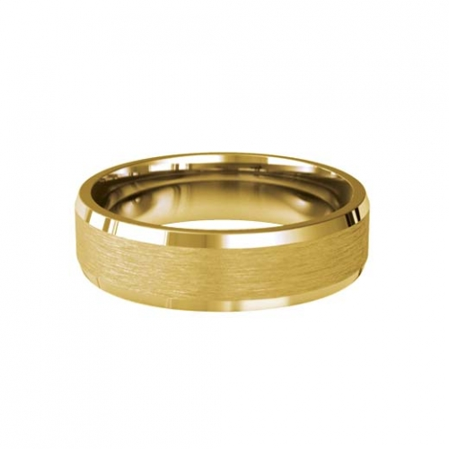 Patterned Designer Yellow Gold Wedding Ring - Soleil