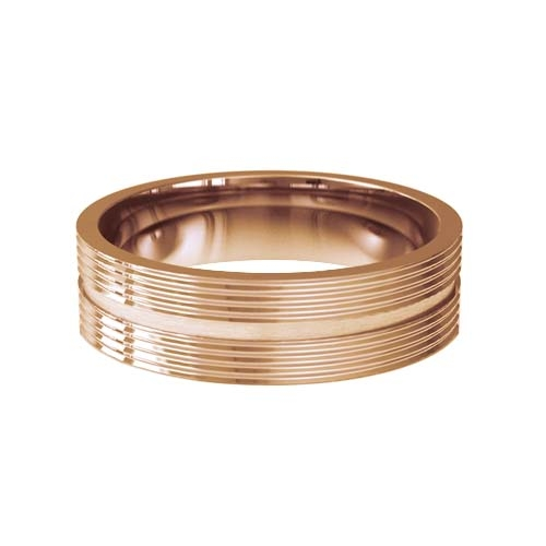 Patterned Designer Rose Gold Wedding Ring - Orbite