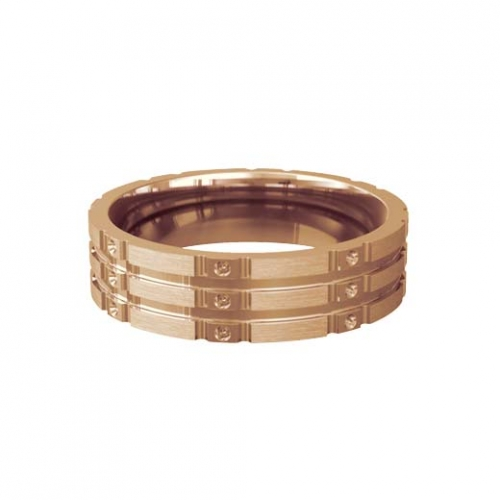 Patterned Designer Rose Gold Wedding Ring - Stelle