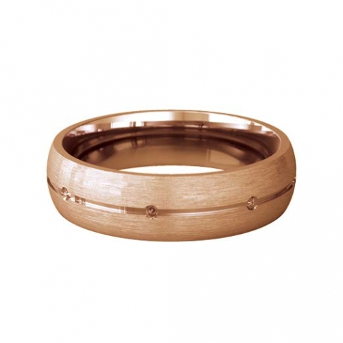 Patterned Designer Rose Gold Wedding Ring - Beso