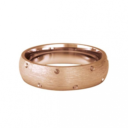 Patterned Designer Rose Gold Wedding Ring - Entrelace