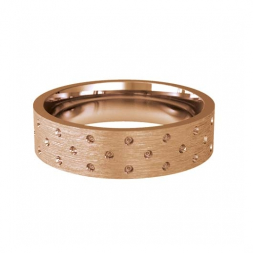 Patterned Designer Rose Gold Wedding Ring - Cuidado