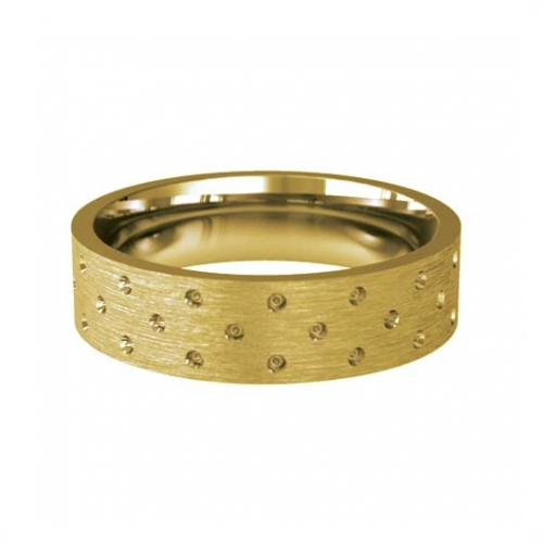 Patterned Designer Yellow Gold Wedding Ring - Cuidado