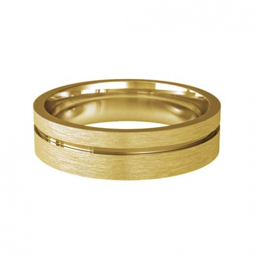 Patterned Designer Yellow Gold Wedding Ring - Pulso