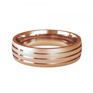 Patterned Designer Rose Gold Wedding Ring - Foveo