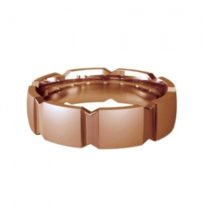 Patterned Designer Rose Gold Wedding Ring - Bacio
