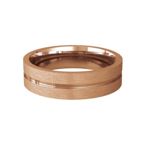 Patterned Designer Rose Gold Wedding Ring - Carezza
