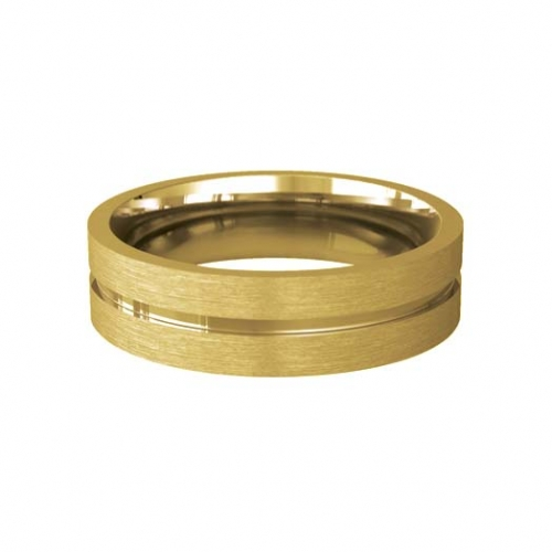 Patterned Designer Yellow Gold Wedding Ring - Carezza