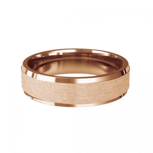 Patterned Designer Rose Gold Wedding Ring - Dilectio
