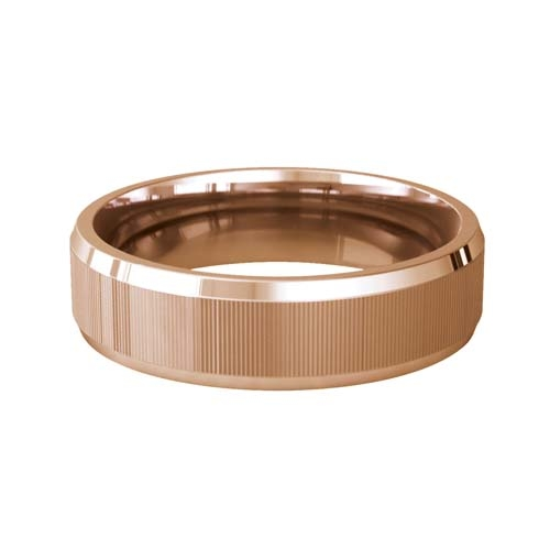 Patterned Designer Rose Gold Wedding Ring - Touche