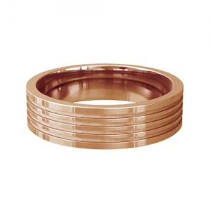 Patterned Designer Rose Gold Wedding Ring - Adorare