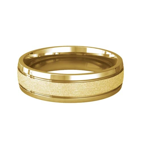 Patterned Designer Yellow Gold Wedding Ring - Pasion