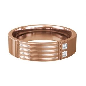 Patterned Designer Rose Gold Wedding Ring - Extollo