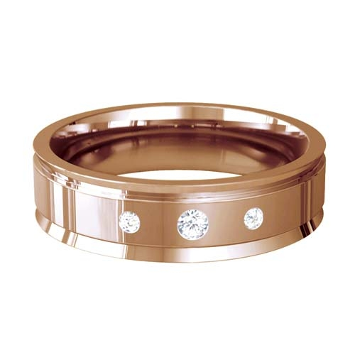 Patterned Designer Rose Gold Wedding Ring - Beaute