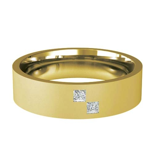 Patterned Designer Yellow Gold Wedding Ring - Diligo