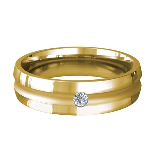 Patterned Designer Yellow Gold Wedding Ring - Encanto